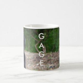 Gage - Black Labrador Classic White Coffee Mug