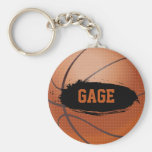 Gage Grunge Basketball Key Chain / Key Ring