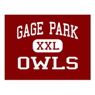 Gage Park - Owls - High School - Chicago Illinois Postcards