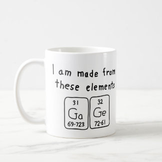 Gage periodic table name mug