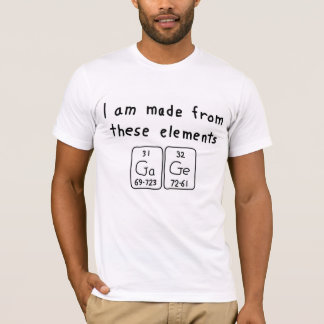 Gage periodic table name shirt