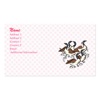 Gaggle of Geese Business Card Templates