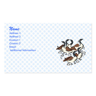 Gaggle of Geese Business Cards