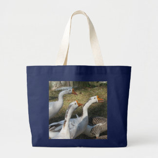 Gaggle of Geese Large Tote Bag