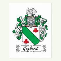 Gagliardi Family Crest Postcard