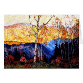 Gagnon - Golden Autumn, Laurentians Card