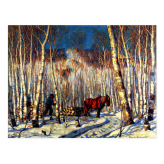 Gagnon - March in the Birch Woods Postcard