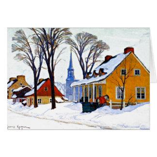 Gagnon - Winter Morning, Baie-Saint Paul Card