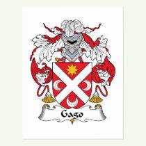 Gago Family Crest Postcard