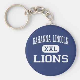 Gahanna Lincoln - leones - alto - Gahanna Ohio Llavero Redondo Tipo Pin