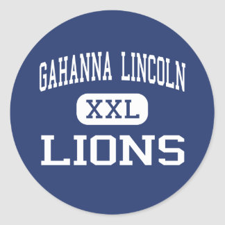 Gahanna Lincoln - Lions - High - Gahanna Ohio Classic Round Sticker