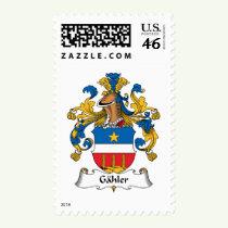 Gahler Family Crest Stamps