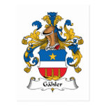 Gahler Family Crest Postcard
