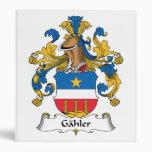Gahler Family Crest Vinyl Binders