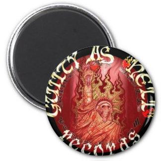 GAHR Red w/black Logo 2 Inch Round Magnet