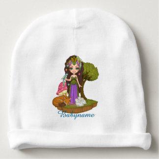 Gaia, Fox, Rabbits & Bird of Paradise Personalized Baby Beanie