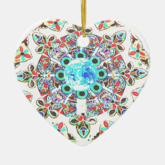 Gaia Glass Imprint Ceramic Ornament