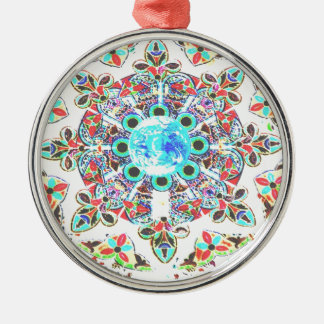 Gaia Glass Imprint Metal Ornament