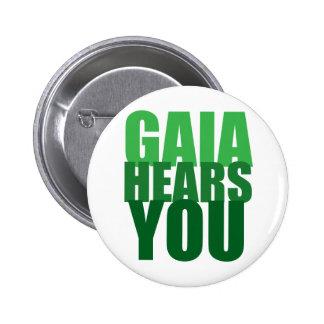 Gaia le oye pin redondo de 2 pulgadas