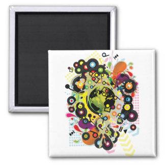 Gaia_Memories 2 Inch Square Magnet