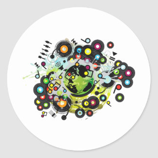 Gaia_Memories Classic Round Sticker