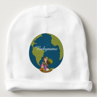 Gaia Mother Earth Personalized Baby Beanie