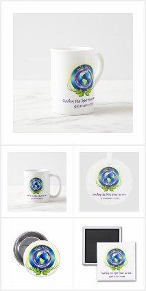 Gaia Scene Drop White Logo Merchandise Collection
