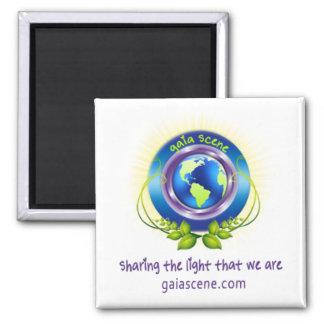 Gaia Scene Square Refridgerator Magnet Drop Logo