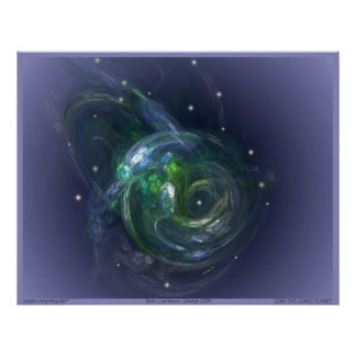 GAIA THE LIVING PLANET ~ On light Blue Poster