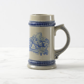 Gaia's Celtic Wave/Blue Beer Stein