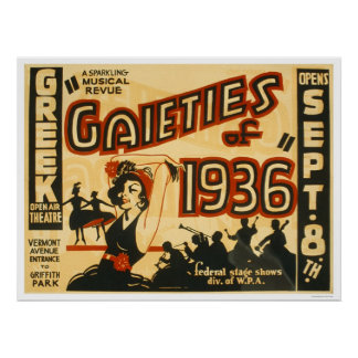 Gaieties Musical Revue 1936 WPA Poster