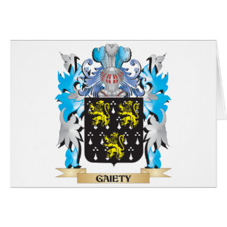 Gaiety Coat of Arms - Family Crest Card