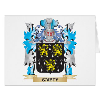 Gaiety Coat of Arms - Family Crest Cards