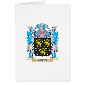Gaiety Coat of Arms - Family Crest Greeting Cards