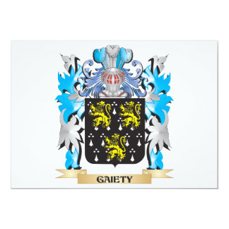 Gaiety Coat of Arms - Family Crest Invite