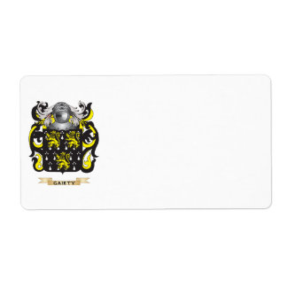 Gaiety Coat of Arms (Family Crest) Shipping Label