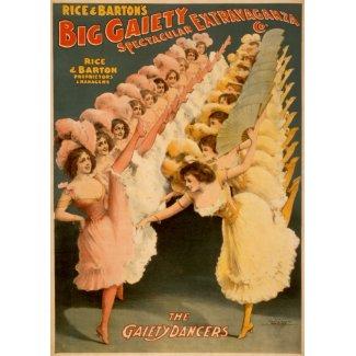Gaiety Dancers 1900 card