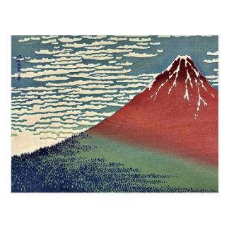 Gaifu kaisei by Katsushika, Hokusai Ukiyoe Postcard