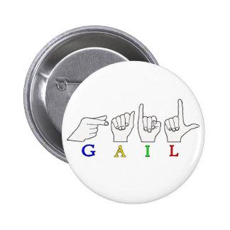 GAIL NAME ASL FINGERSPELLED SIGN PINBACK BUTTON