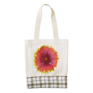 Gaillardia 1 zazzle HEART tote bag