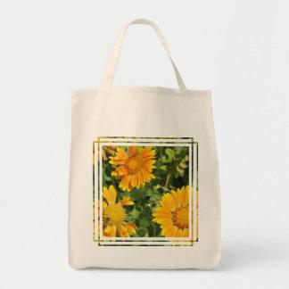 Gaillardia Flowers Grocery Tote Bag