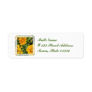 Gaillardia Flowers Return Address Mailing Label Return Address Label