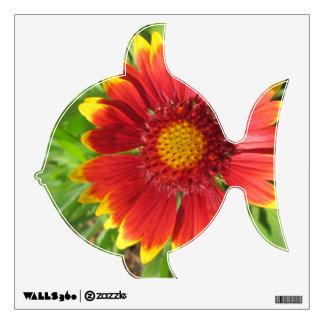 Gaillardia Red Yellow Custom Flower Wall Decal