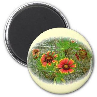 Gaillardia Wildflower (Blanket Flower) Tote Bag Magnet