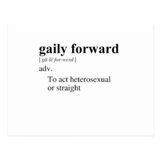 GAILY FORWARD POSTCARD