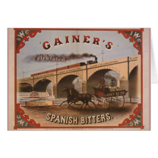 Gainer's Celebrated Spanish Bitters Greeting Cards