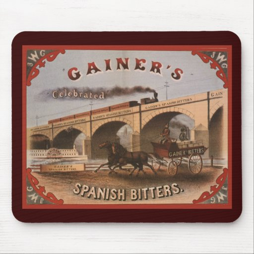 Gainer's Spanish Bitters Mouse Pads