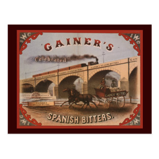 Gainer's Spanish Bitters Postcard
