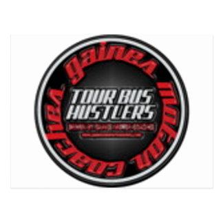 Gaines Motor Coach Tour bus hustlers Postcard