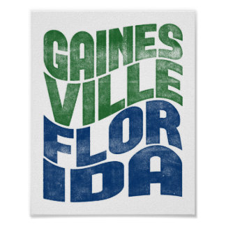 Gainesville Florida Poster City State Art Print